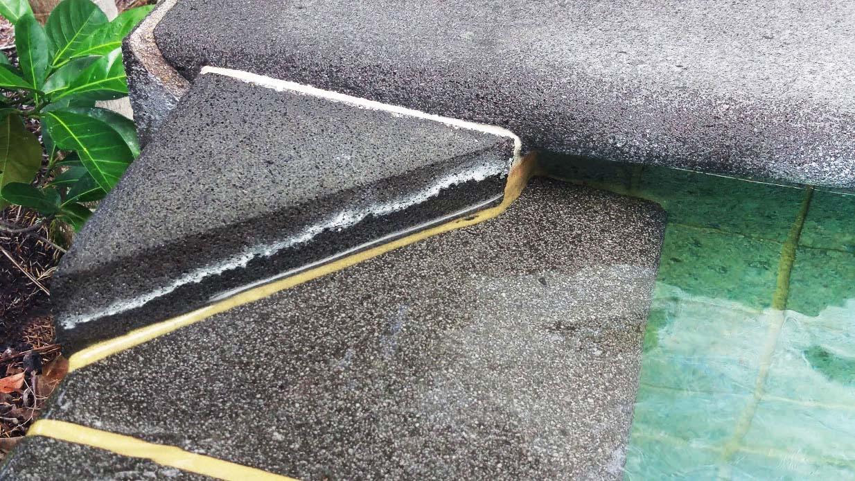 Fix efflorescence around the pool - Tech-Dry® Australia
