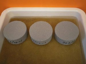 Pressed concrete test disks